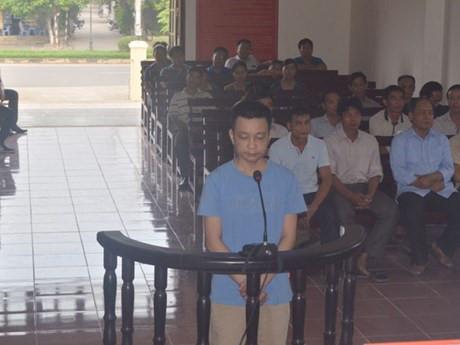 Bị cáo Chu Đức Cường tại tòa.
