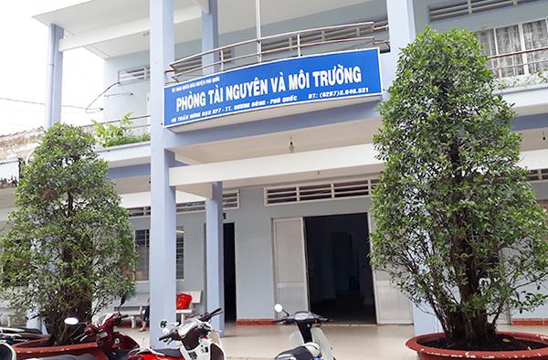 Phòng TN&MT huyện Phúc Quốc, nơi ông Sơn làm việc. (Ảnh: báo Công an nhân dân)