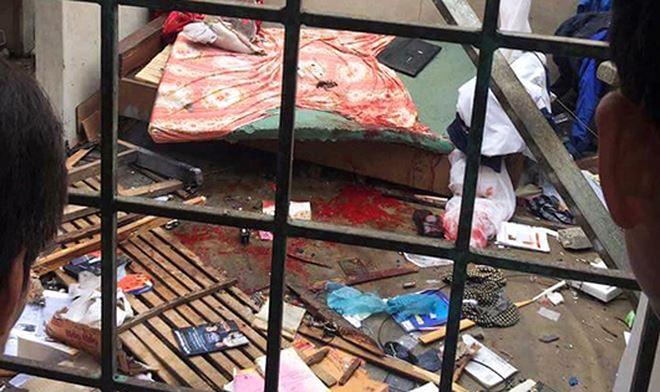 Hiện trường khi vụ nổ vừa xảy ra tại nhà ông Hường.