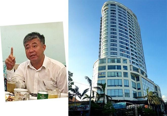 Đối tượng Đinh Tiến Sử và Khách sạn Bavico Nha Trang. (Ảnh: báo Công an nhân dân)