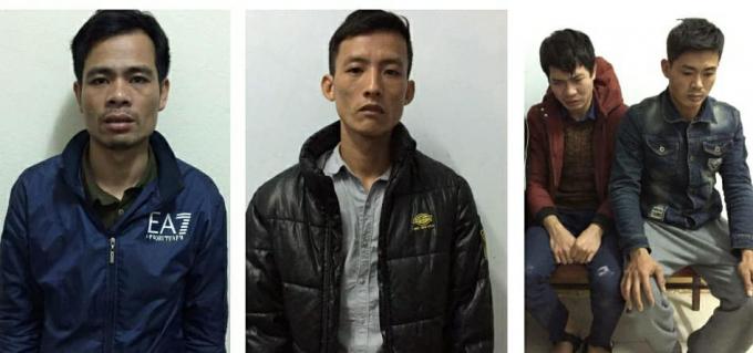 Các đối tượng trong vụ án bị bắt giữ. (Ảnh: báo Vietnamnet)