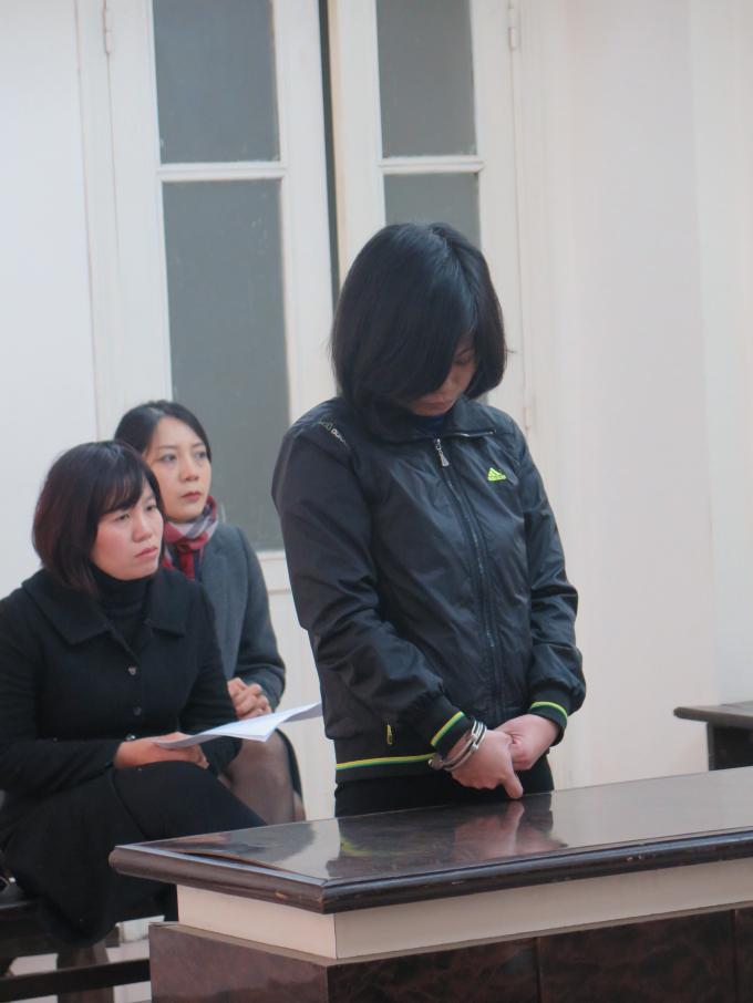 Bị cáo Nguyễn Thị Thanh Mai tại phiên tòa phúc thẩm.