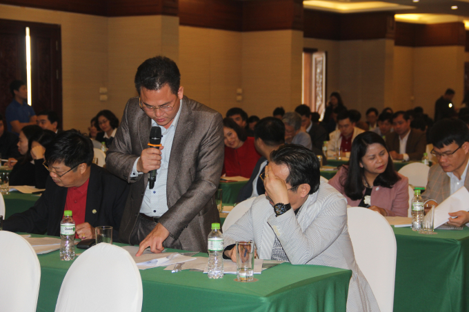 Nhiều đại biểu đại diện cho các cơ quan Nhà nước bày tỏ quan điểm và thảo luận sổi nổi tại Hội thảo.