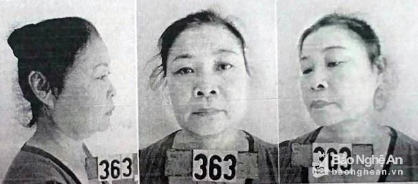 Bản ảnh nhận diện đối tượng truy nã Tạ Thị Vân. (Ảnh: báo Nghệ An)