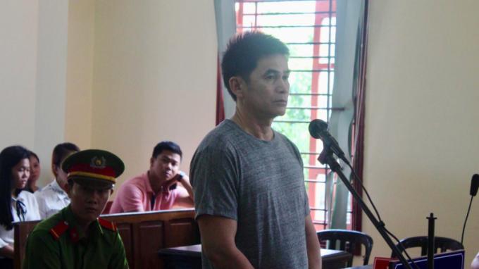 Bị cáo Lê Hoàng Lực tại phiên tòa xét xử. (Ảnh: báo Giao thông)