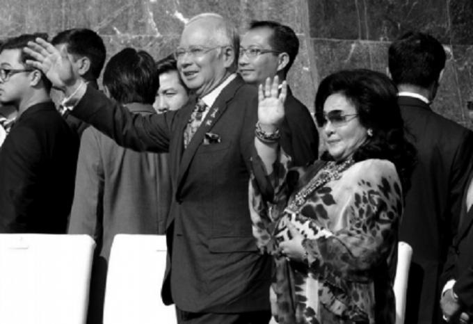 Ông Najib và vợ.