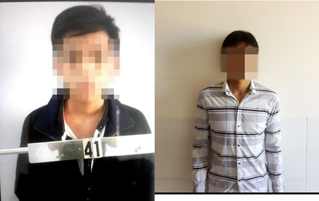 Hai đối tượng Hiếu (trái) và Trung gây ra vụ cướp. (Ảnh: báo Dân trí)
