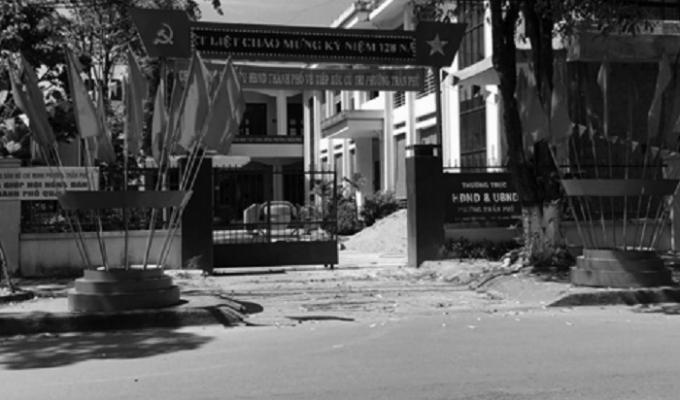 Trụ sở UBND phường Trần Phú, nơi bà Mận chiếm đoạt 221 triệu đồng tiền quà tết của cán bộ hưu trí.