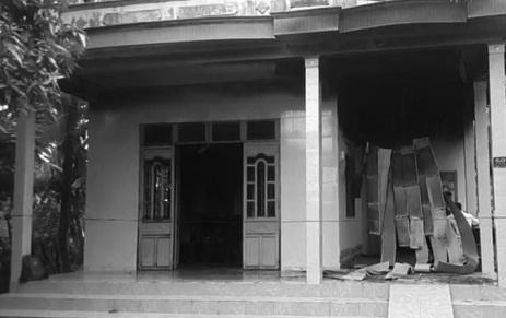 Căn nhà nơi xảy ra vụ án đau lòng.