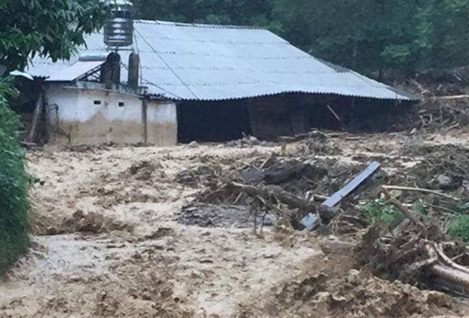 Mưa lũ tại Yên Bái đã làm thiệt hại 642 ngôi nhà.                                  Mưa lũ gây sạt lở nghiêm trọng tại huyện Văn Chấn, Yên Bái.