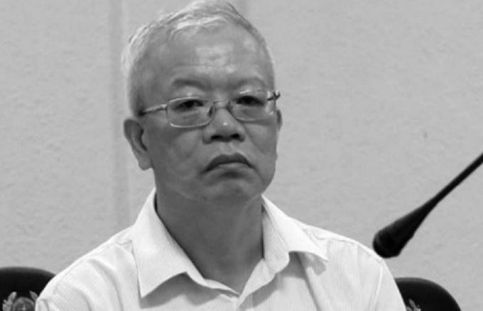 Bị cáo Trần Trung Chí Hiếu (cựu chủ tịch HĐQT PVTex) tại tòa.