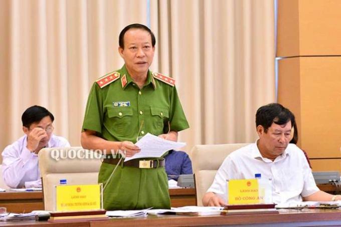 Thượng tướng Lê Quý Vương - Thứ trưởng Bộ.