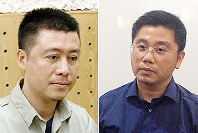 """Hai """"ông trùm"""" Phan Sào Nam (phải) và Nguyễn Văn Dương."""