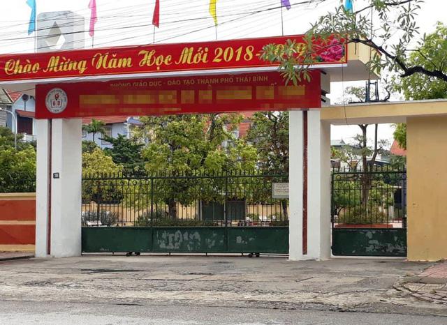 Ngôi trường nơi cháu T.M theo học.