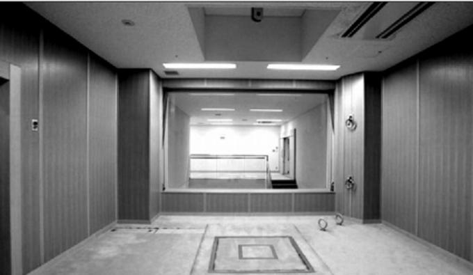 Giá treo cổ tại Nhà giam Tokyo.