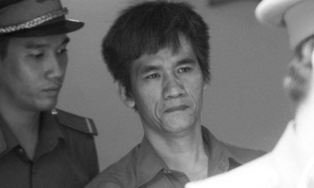Bị cáo Hoàng Trọng Đông tại phiên xử.