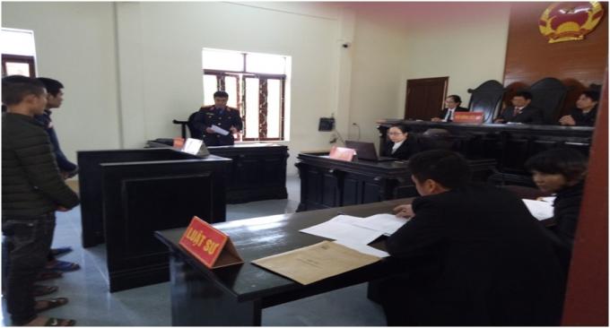Toàn cảnh phiên tòa xét xử Vi Văn Kiều và đồng bọn (Ảnh: báoBảo vệ pháp luật)