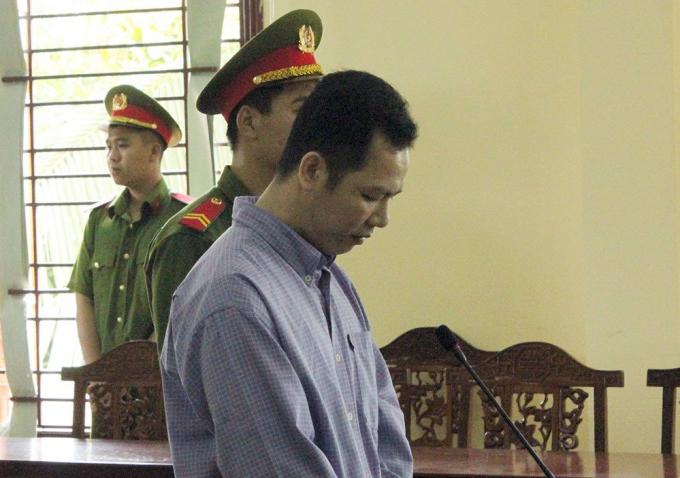 Bị cái Tín tại tòa. (Ảnh: báo Vietnamnet)