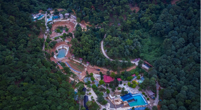 Khu sinh thái Thiên Phú Lâm khoét sâu vào lõi rừng tại xã Minh Phú - Sóc Sơn.