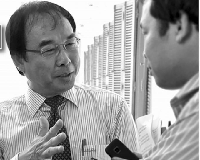 Nguyên Phó chủ tịch UBND TP HCM Nguyễn Thành Tài tại kỳ họp HĐND tháng 12/2010.