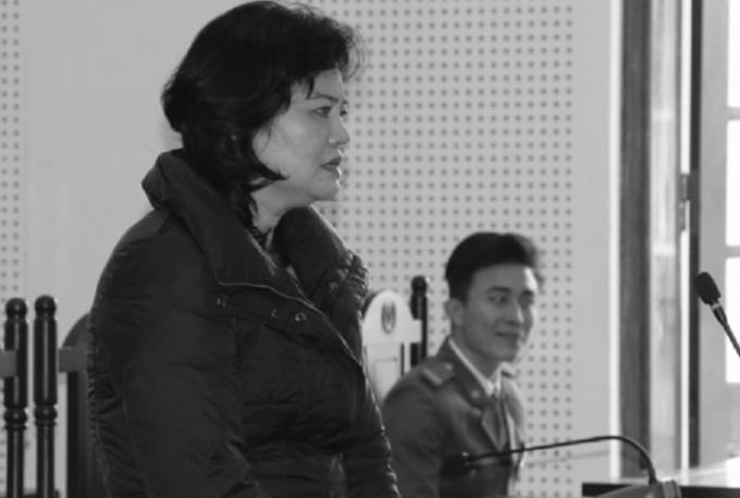 Bị cáo Nguyễn Thị Thảo tại phiên tòa phúc thẩm.