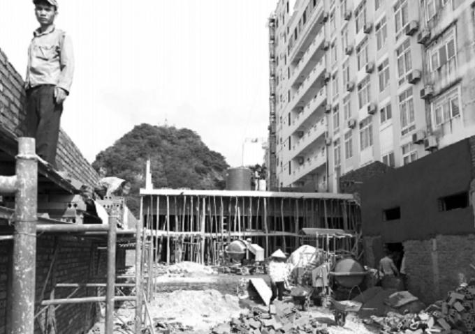 Hiện trạng công trình xây dựng của ông Nguyễn Văn Trung.