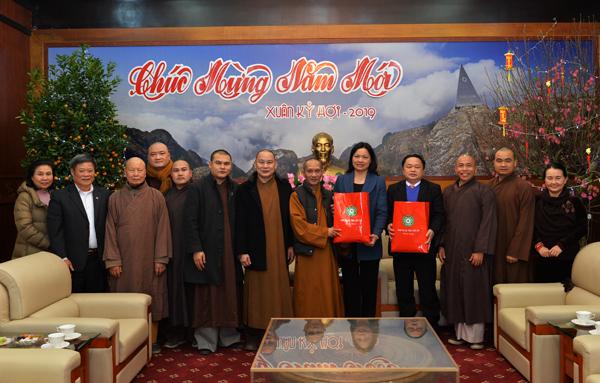 Ban Trị sự GHPGVN tỉnh Lào Cai đến thăm và chúc Tết các cơ quan chức năng, chính quyền tỉnh.