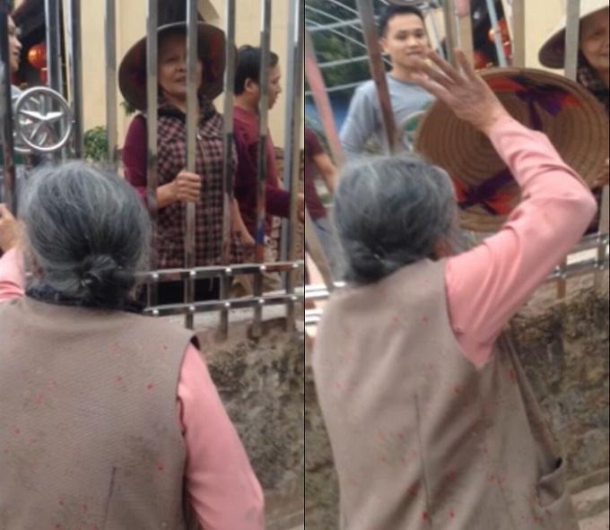 Theo clip dài 26 phút mà người dân cung cấp, ngoài ông Ron, còn có một số người khác có mặt bên trong chiếc rào sắt.