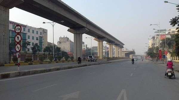 Đường Trần Phú (Hà Đông).Ảnh: Như Trường.