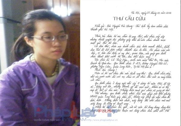 Nữ sinh Lê Thuý Nga viết tâm thư gửi Chủ tịch UBND TP Hà Nội.