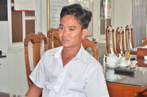 Tài xế Nguyễn Văn Văn tại cơ quan điều tra. Ảnh cơ quan chức năng cung cấp.
