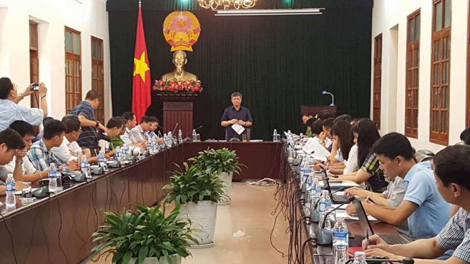 UBND Thành phố Hải Phòng tổ chức cuộc họp báo thông tin về vụ việc.
