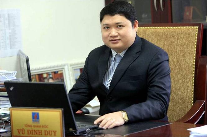 Vũ Đình Duy lúc còn là Phó Bí thư Đảng ủy, Tổng giám đốc PVTEX - Nguồn: PVTEX.