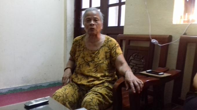 Bà Cao Hải Lý - chủ nhân mảnh đất số 347 - 349.