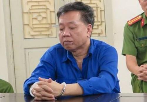 Phạm Công Giang tại phiên tòa. Ảnh ANTĐ