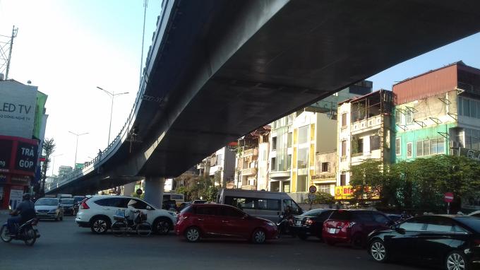 Đây là đoạn nút giao ngã tư giữa của khẩu An Dương - Thanh Niên; Âu Cơ - Nghi Tàm. Khu vực này trước đây là điểm nóng ùn tắc giao thông.