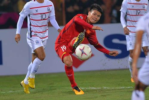 Quang Hải được đánh giá cao nhất trong đội hình Việt Nam.