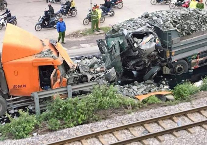 Hện trường xảy ra vụ tai nạn.Ảnh Otofun.
