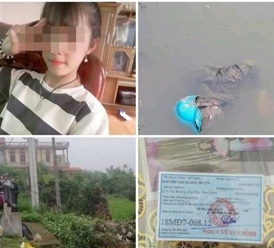 Sau 4 ngày mất tích, thi thể nữ sinhđược phát hiện dưới mơng nước thuộc xã Hải Phú, Hải Hậu, NamĐịnh.