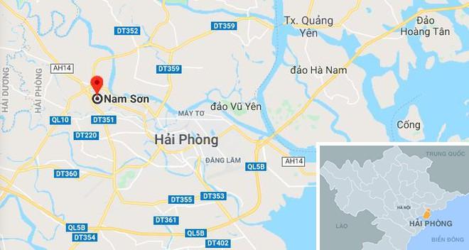 Xã Nam Sơn, nơi xảy ra tai nạn. Ảnh: Google Maps.