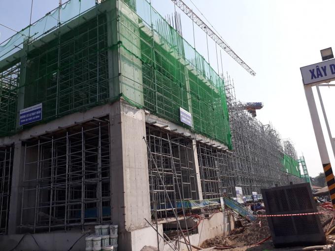 Dự án khu nghỉ dưỡng Wyndham Thanh Thủy, Phú Thọ hiện đang xây dựng sau một thời gian chậm thi công. Ảnh Bạn đọc cung cấp cho Pháp luật Plus.