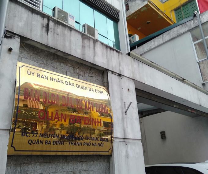 Trụ sở Ban QLDA ĐTXD quận Ba Đình, Hà Nội.