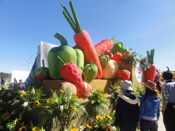 Mô hình sản phẩm rau củ quả đặc trưng của Đà Lạt được trưng bày