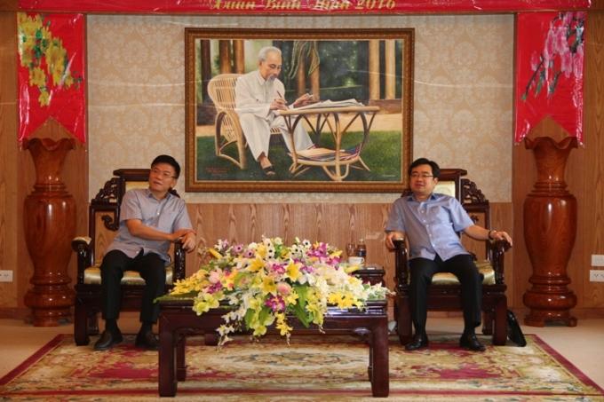 Bộ trưởng Bộ Tư pháp Lê Thành Long làm việc với Tỉnh ủy Kiên Giang.