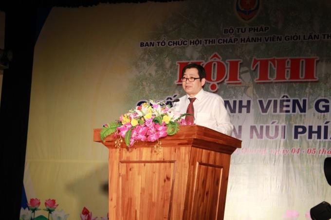 Phó Tổng cục trưởng Tổng cục THADS phát biểu khai mạc.