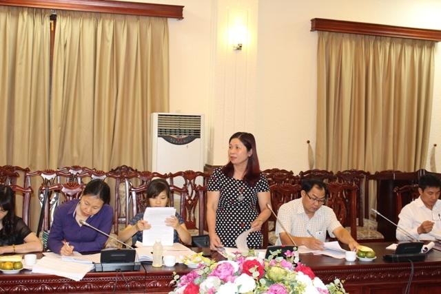Bà Tống Thị Thanh Nam- Phó Giám đốc Sở Tư pháp Hà Nội phát biểu.