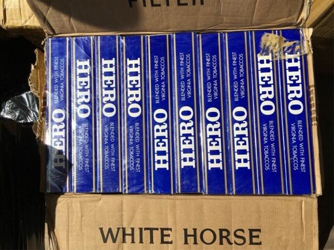 8.700 bao thuốc lá hiệu HERO đang bị bắt giữ