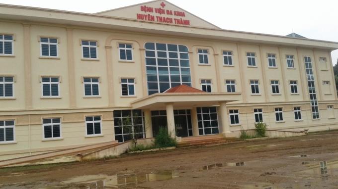 Bệnh viện đa khoa huyện Thạch Thành đang trong quá trình hoàn thiện, dự kiến cuối năm nay sẽ đưa vào hoạt động.