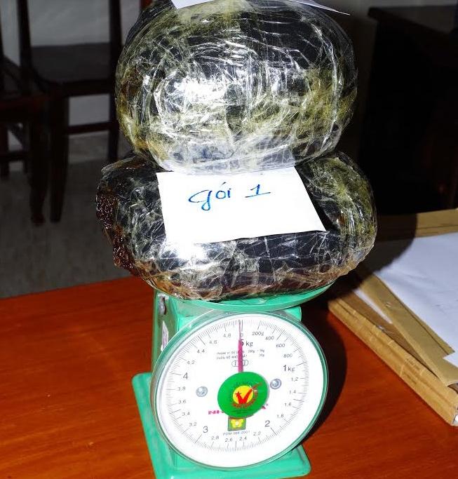 5kg thuốc phiện lực lượng chức năng tỉnh Thanh Hóa đã thu giữ được.