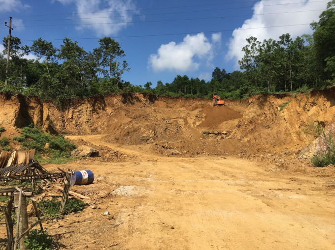 Cty Bình Xuân lấy đất trái phép ở thôn Mợ xã Thạch Quảng